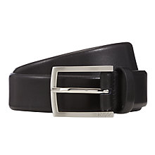 Buy HUGO Barney Leather Belt, Black Online at johnlewis.com
