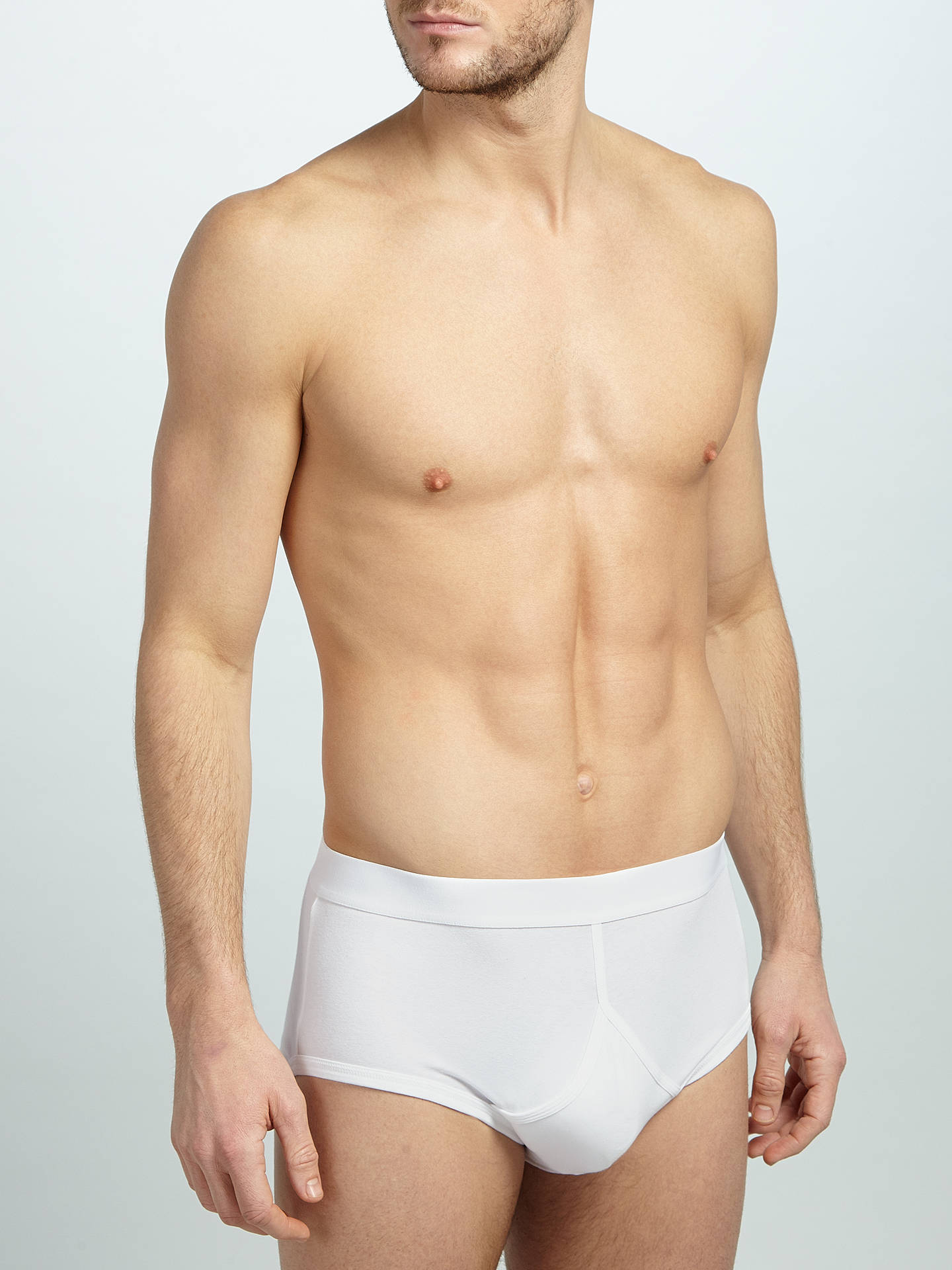 Buy John Lewis & Partners Organic Cotton Briefs, Pack of 4, White, XL Online at johnlewis.com