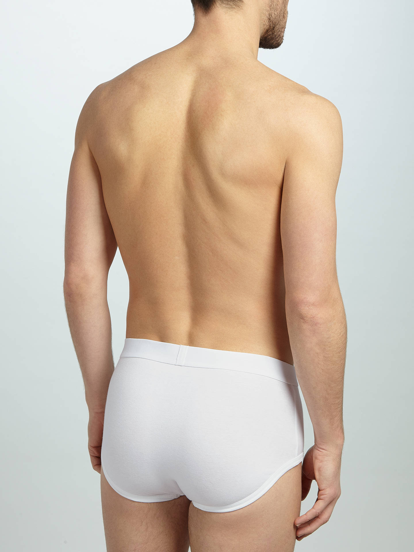 Buy John Lewis & Partners Organic Cotton Briefs, Pack of 4, White, S Online at johnlewis.com