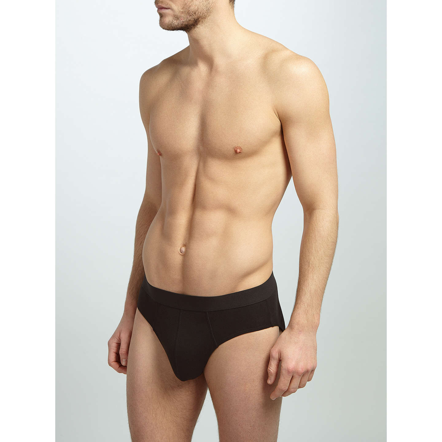 BuyJohn Lewis Organic Cotton Briefs, Pack of 4, Black, S Online at johnlewis.com