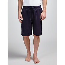 Buy John Lewis Jersey Cotton Lounge Shorts, Navy Online at johnlewis.com