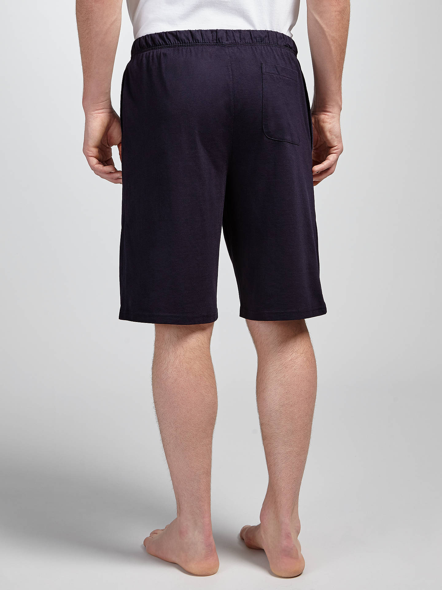 BuyJohn Lewis & Partners Jersey Cotton Lounge Shorts, Navy, S Online at johnlewis.com