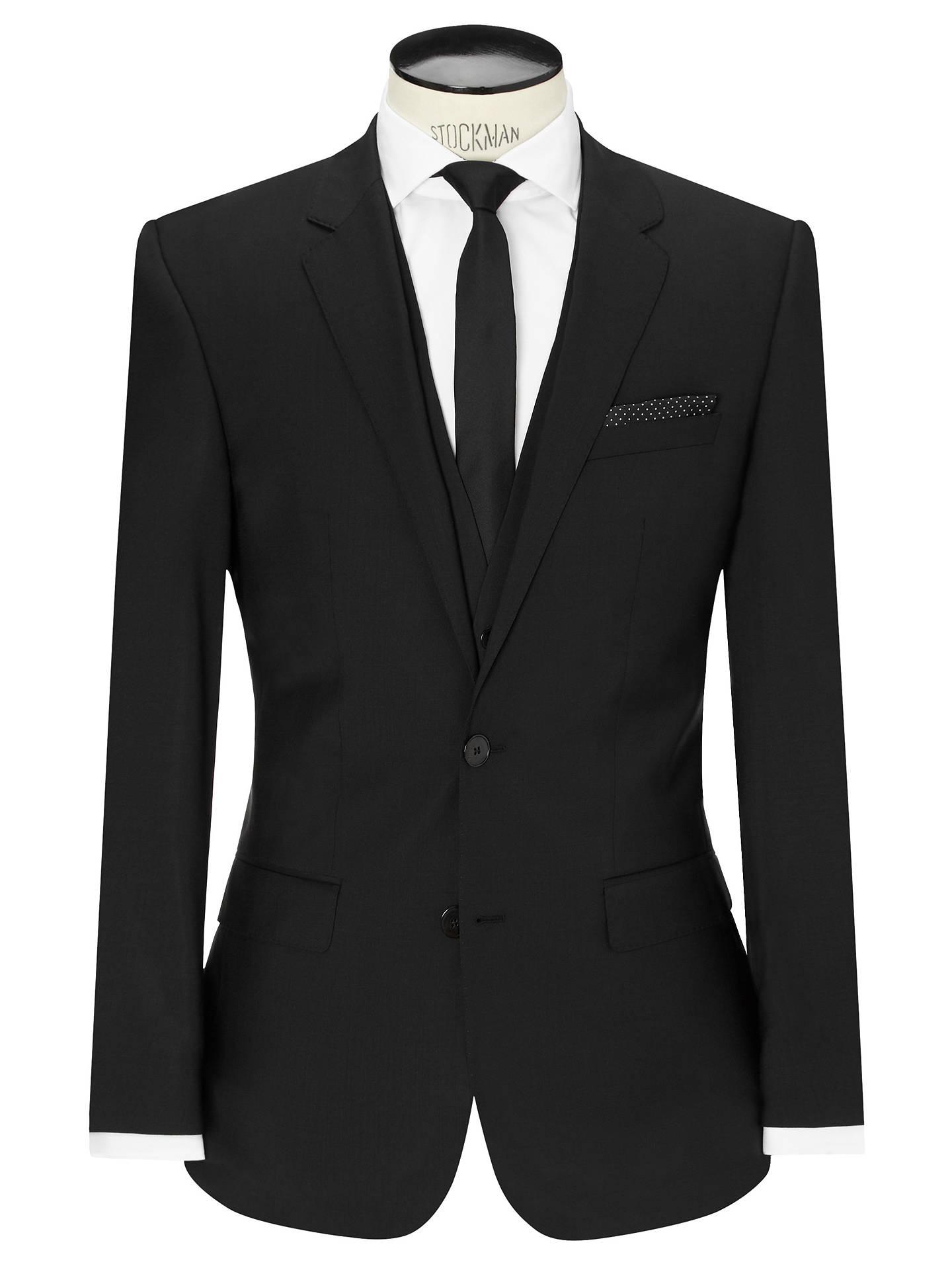 c2de6ee6 Buy HUGO by Hugo Boss Huge/Genius Virgin Wool Slim Fit Suit Jacket, Black  ...