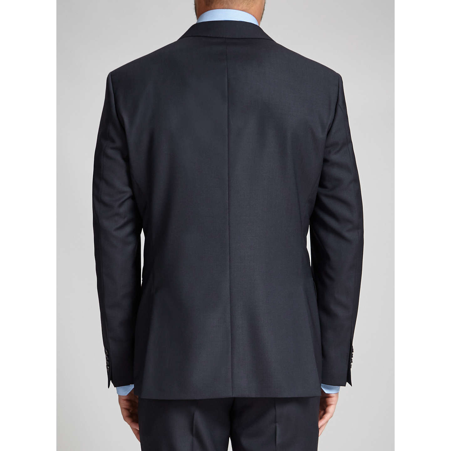 BuyHUGO James Textured Wool Regular Fit Suit Jacket, Dark Blue, 36R Online at johnlewis.com