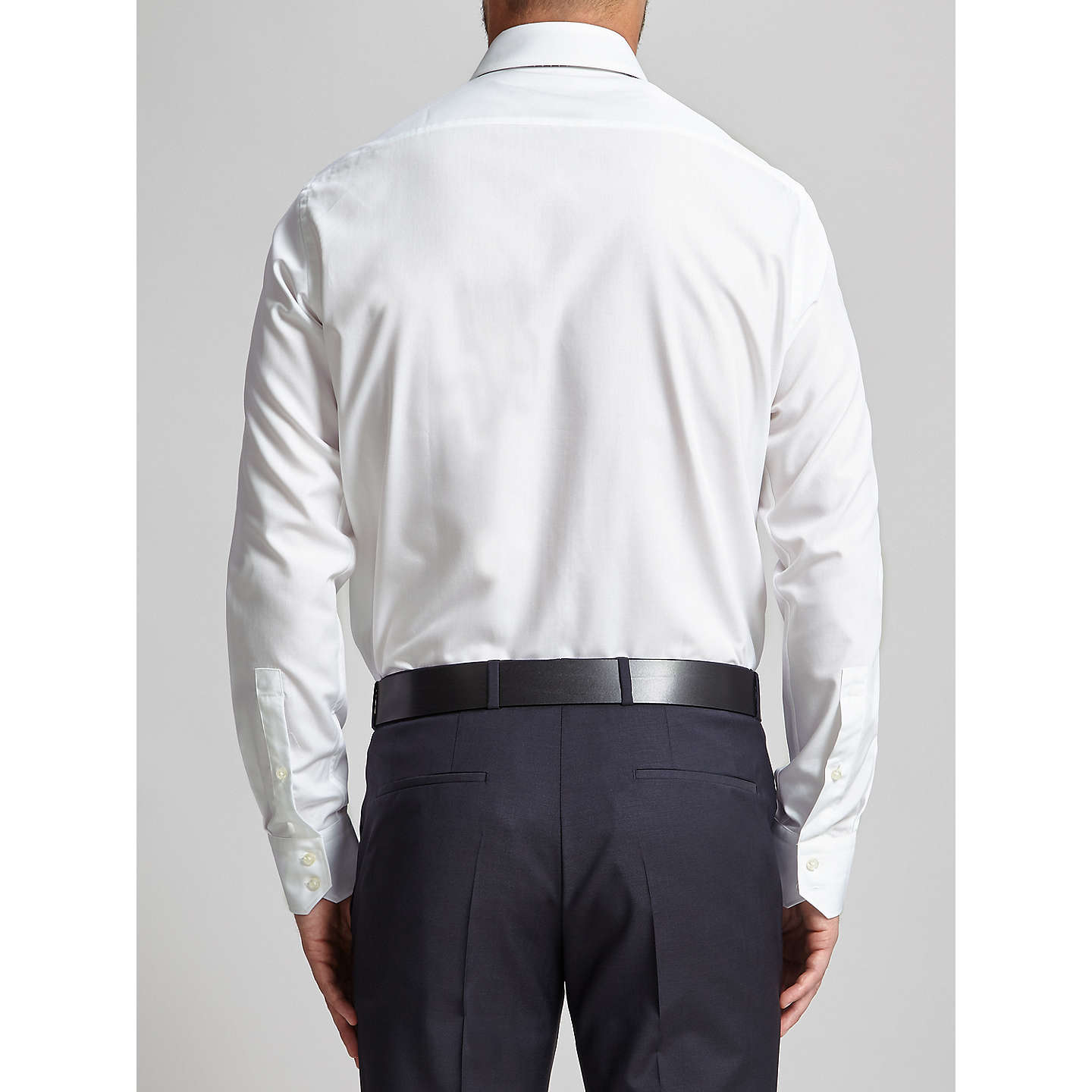 BuyHUGO Enzo Cotton Poplin Regular Fit Shirt, Open White, 15 Online at johnlewis.com