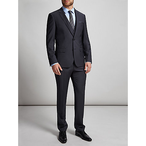 Buy HUGO by Hugo Boss Huge/Genius Virgin Wool Slim Fit Suit Jacket, Dark Blue Online at johnlewis.com