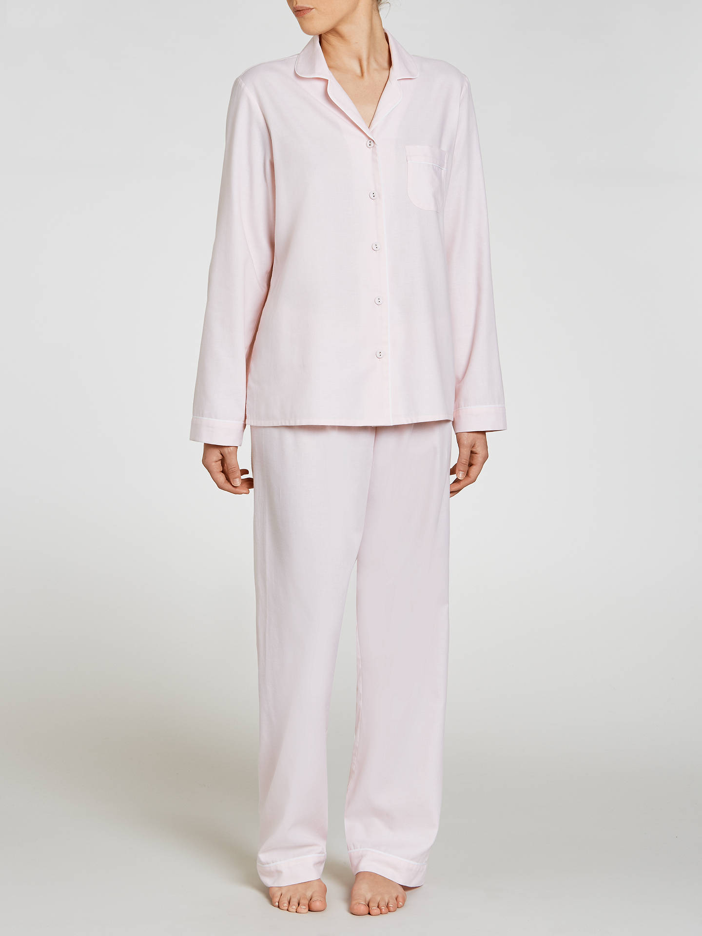 Buy John Lewis Chambray Pyjama Set, Light Pink, 12 Online at johnlewis.com