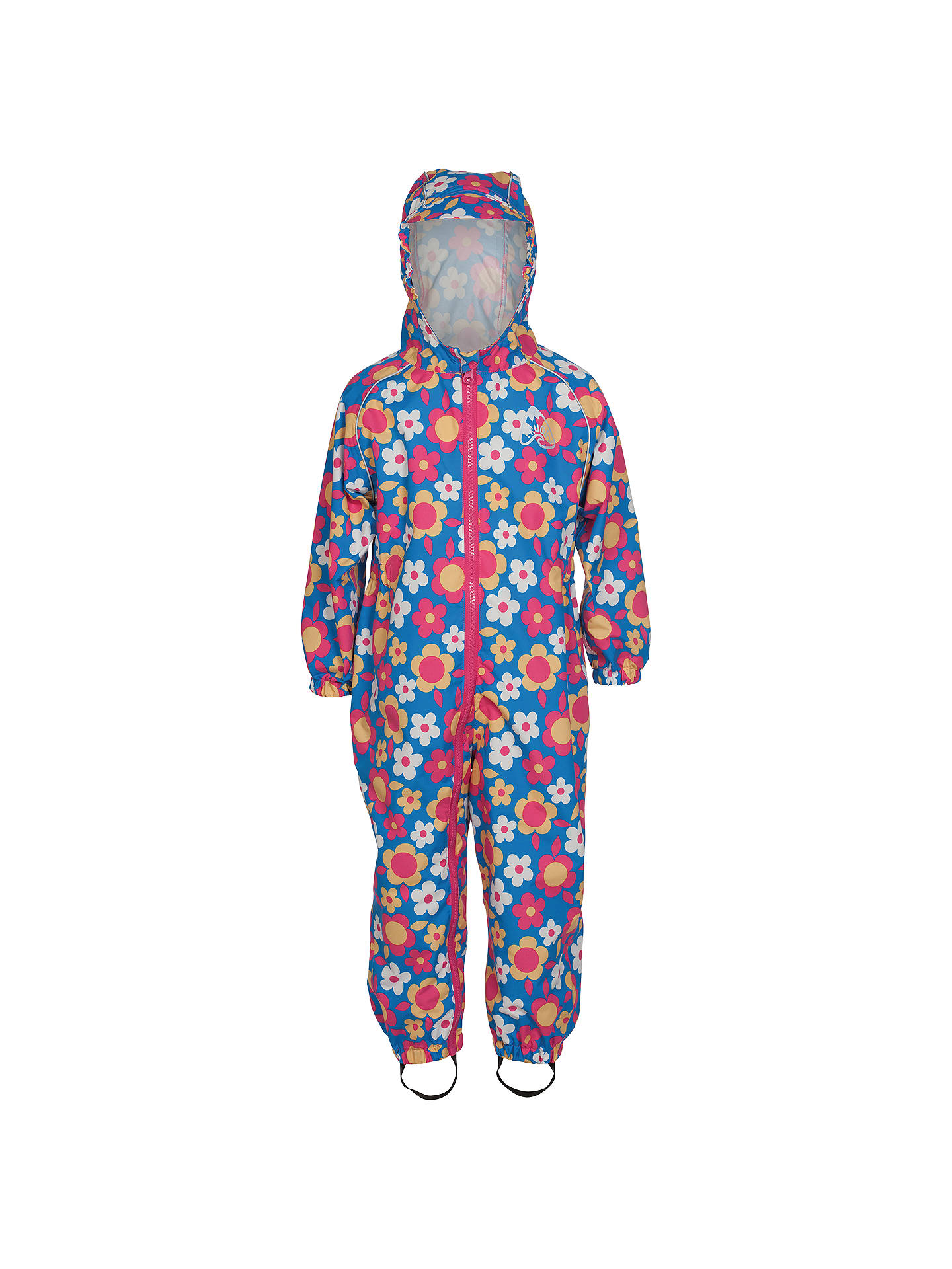 31b0f9dcf503 Frugi Organic Children s Puddle Buster Flower Print Waterproof Suit ...