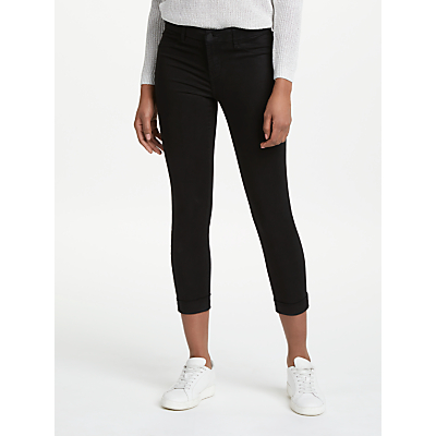 J Brand Anja Mid Rise Cropped Skinny Jeans, Black