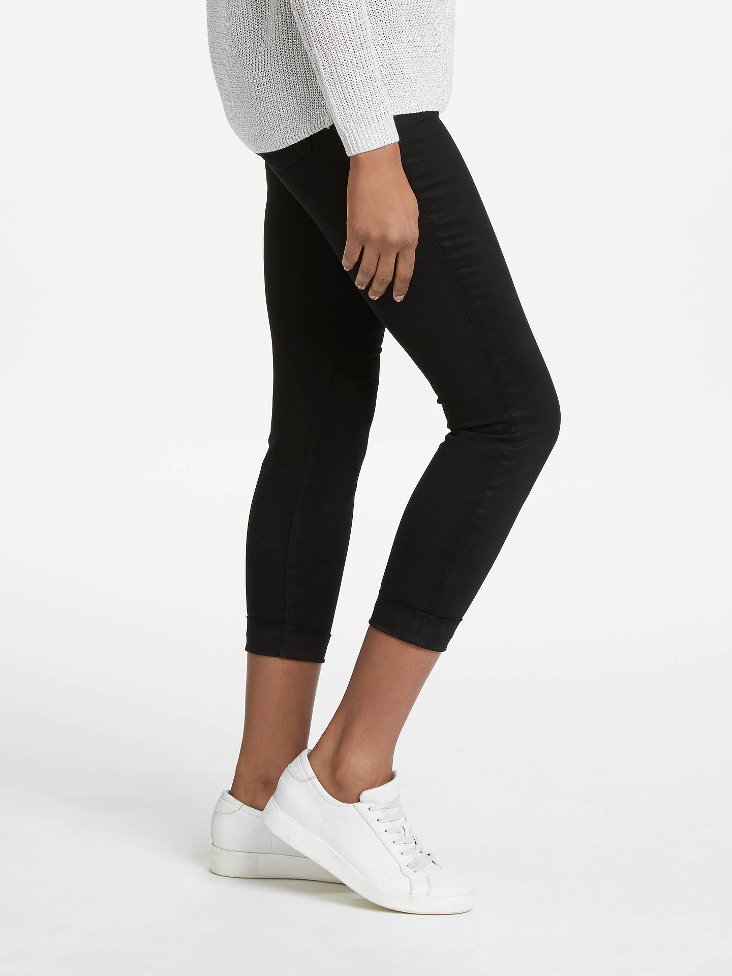 Buy J Brand Anja Mid Rise Cropped Skinny Jeans, Black, 24 Online at johnlewis.com