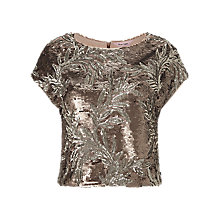 Buy Phase Eight Nasia Sequin Top, Bronze Online at johnlewis.com