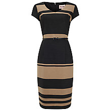 Buy Phase Eight Lucy Stripe Dress, Black/Camel Online at johnlewis.com