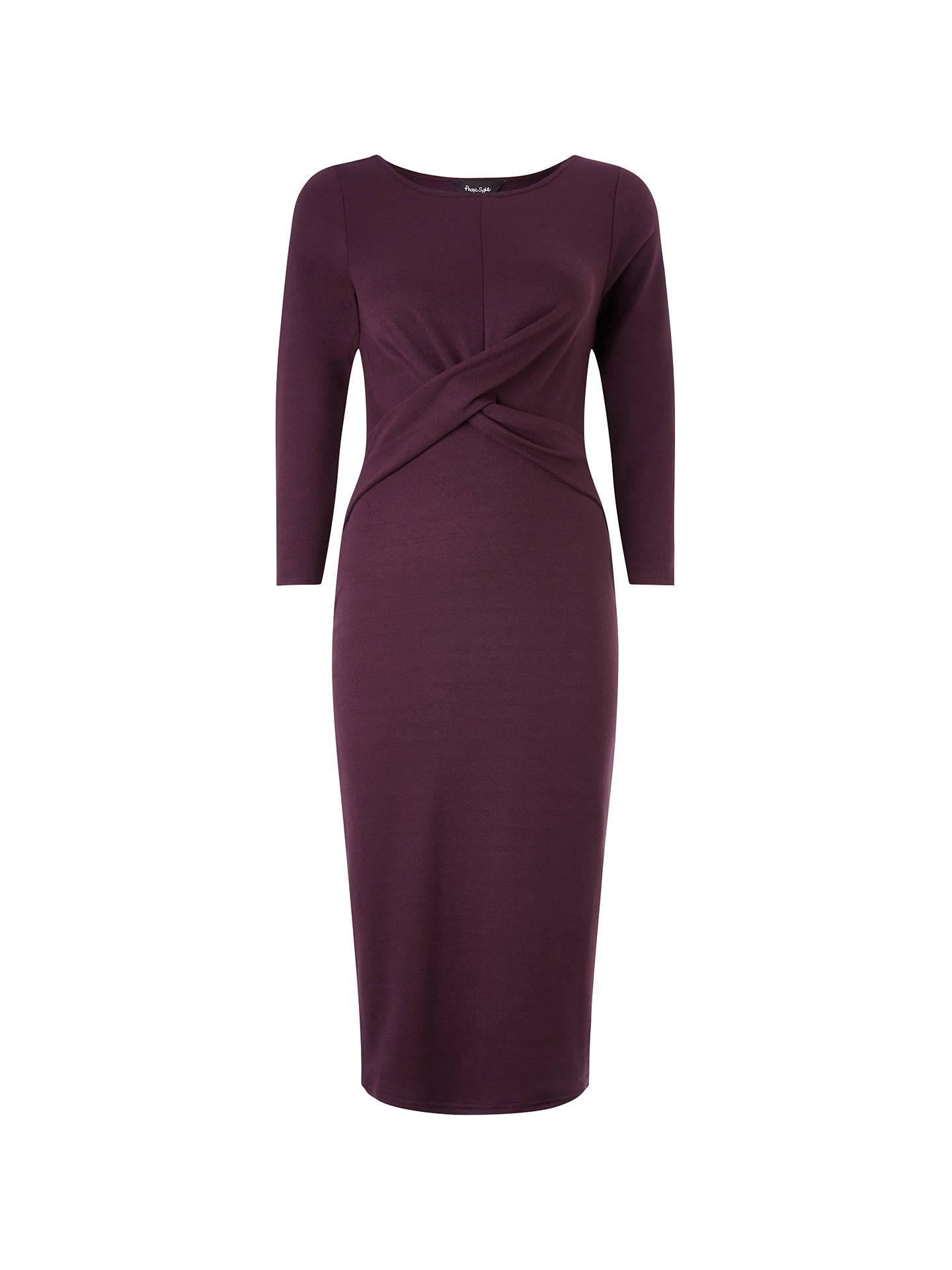 843b10960b93c Phase Eight Mandy Midi Dress, Claret at John Lewis & Partners