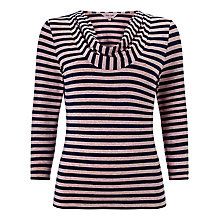 Buy Phase Eight Carrie Stripe Top, Navy/Pink Online at johnlewis.com
