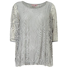 Buy Phase Eight Cecily Burnout Top, Silver Online at johnlewis.com