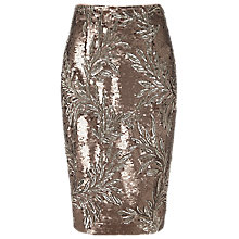Buy Phase Eight Nasia Sequin Skirt, Bronze Online at johnlewis.com