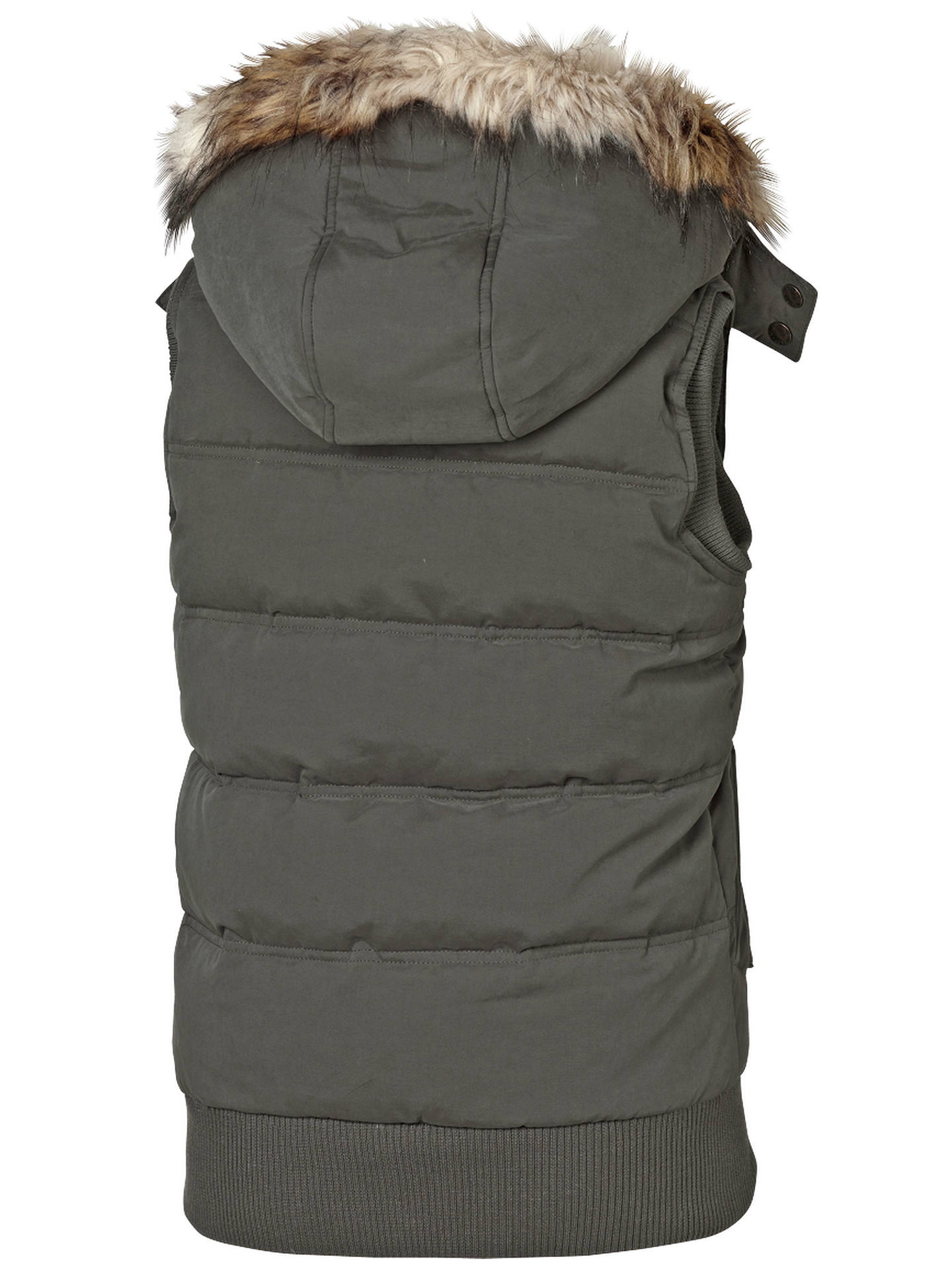 d122236a7 Fat Face Kimberley Faux Fur Trim Gilet at John Lewis & Partners