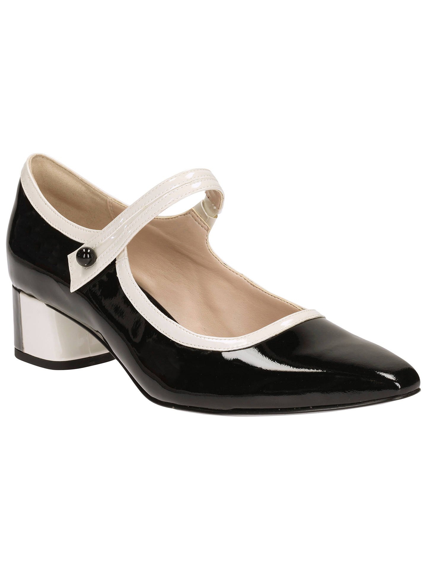 720879c63de Buy Clarks V&A Swixties Faye Block Heeled Mary Jane Court Shoes, Black  Comb, 4 ...