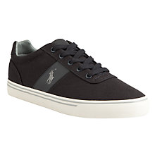 Buy Polo Ralph Lauren Hanford Canvas Trainers, Dark Carbon Grey Online at johnlewis.com