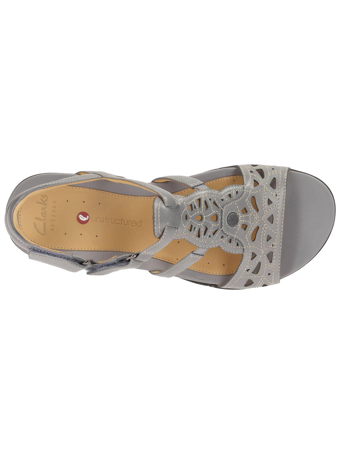 Clarks Un Valencia Leather Sandals at John Lewis & Partners