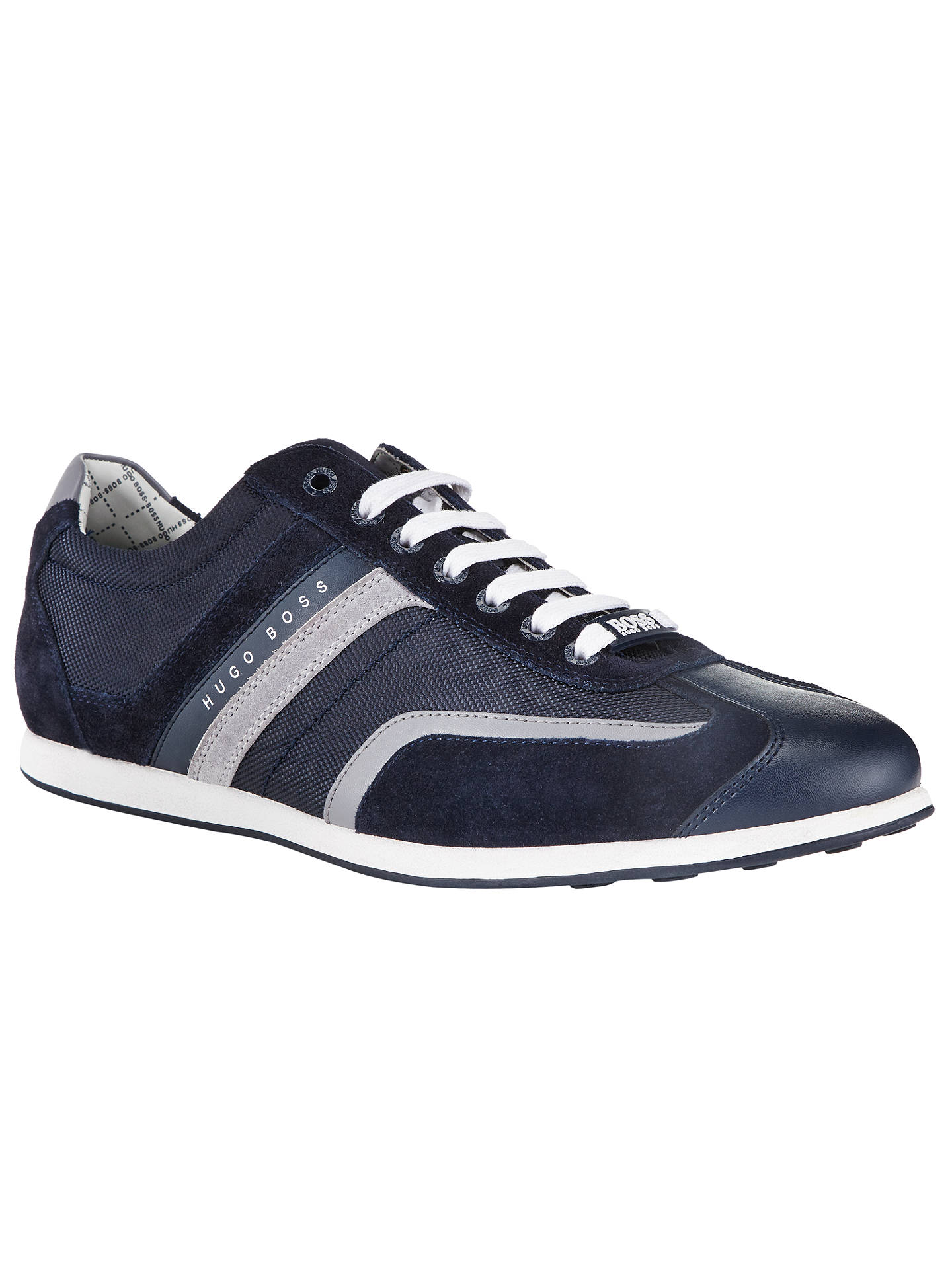 92a34b5c7 Buy BOSS Green Stiven Trainers, Blue, 7 Online at johnlewis.com ...