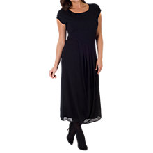 Buy Chesca Pleat Jersey Chiffon Dress, Black Online at johnlewis.com