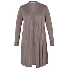 Buy Chesca Lacy Zig-Zag Rib Cardigan, Taupe Online at johnlewis.com