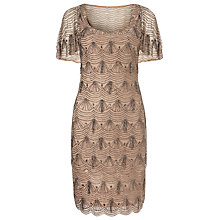 Buy Phase Eight Colby Beaded Dress, Nude Online at johnlewis.com