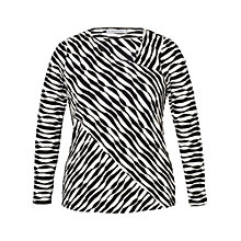 Buy Chesca Wavy Asymmetric Top, Black/Cream Online at johnlewis.com