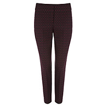 Buy Phase Eight Oval Jacquard Trousers, Black/Red Online at johnlewis.com