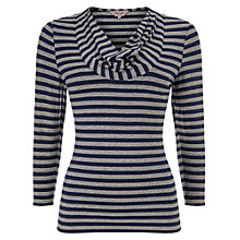 Buy Phase Eight Carrie Stripe Top, Navy/Grey Online at johnlewis.com