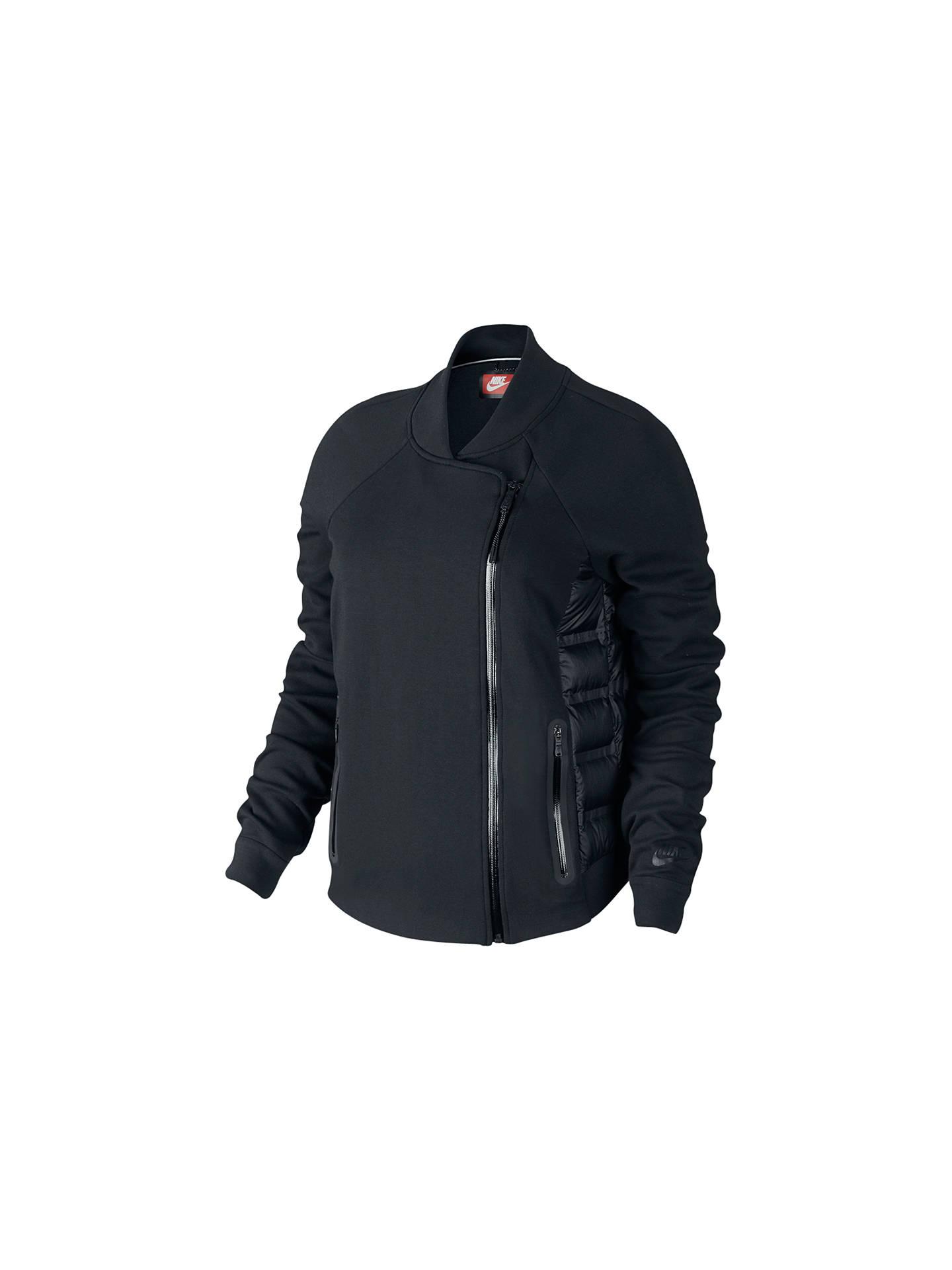 2b9f89d3 Buy Nike Tech Fleece Aeroloft Moto Jacket, Black, XS Online at  johnlewis.com ...
