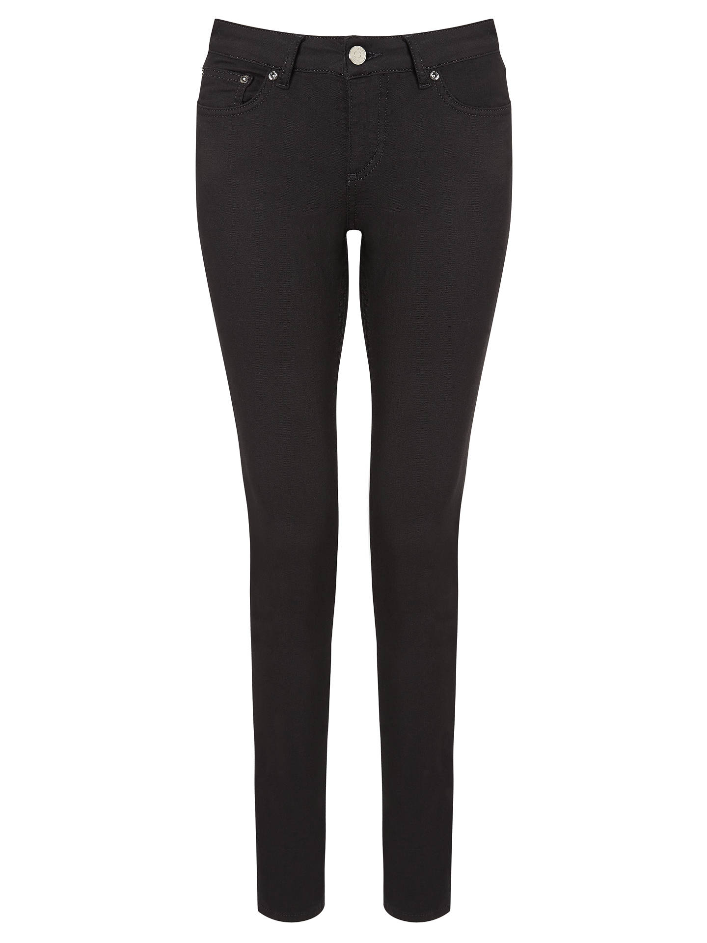 Buy Reiss Stevie Low Rise Skinny Jeans, Black, 24 Online at johnlewis.com
