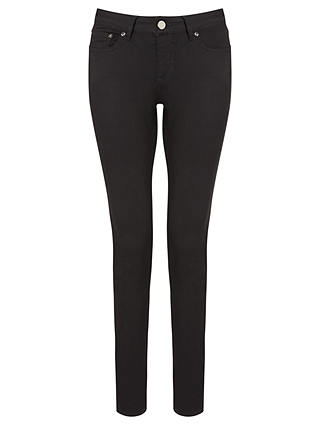 Buy Reiss Stevie Low Rise Skinny Jeans, Black, 27 Online at johnlewis.com