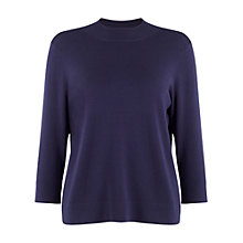 Buy Phase Eight Marlee Turtle Neck Top, Navy Online at johnlewis.com