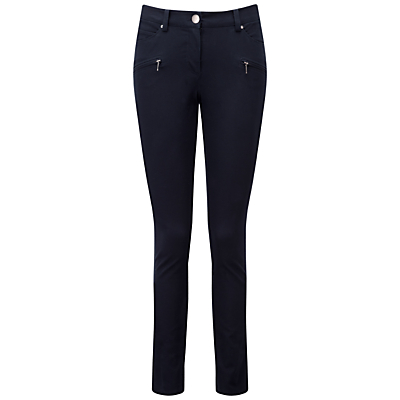 Pure Collection Landsdowne Cotton Stretch Trousers, Navy