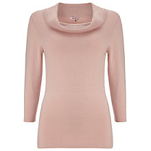 Buy Phase Eight Carlie Cowl Knitted Jumper, Soft Pink Online at johnlewis.com