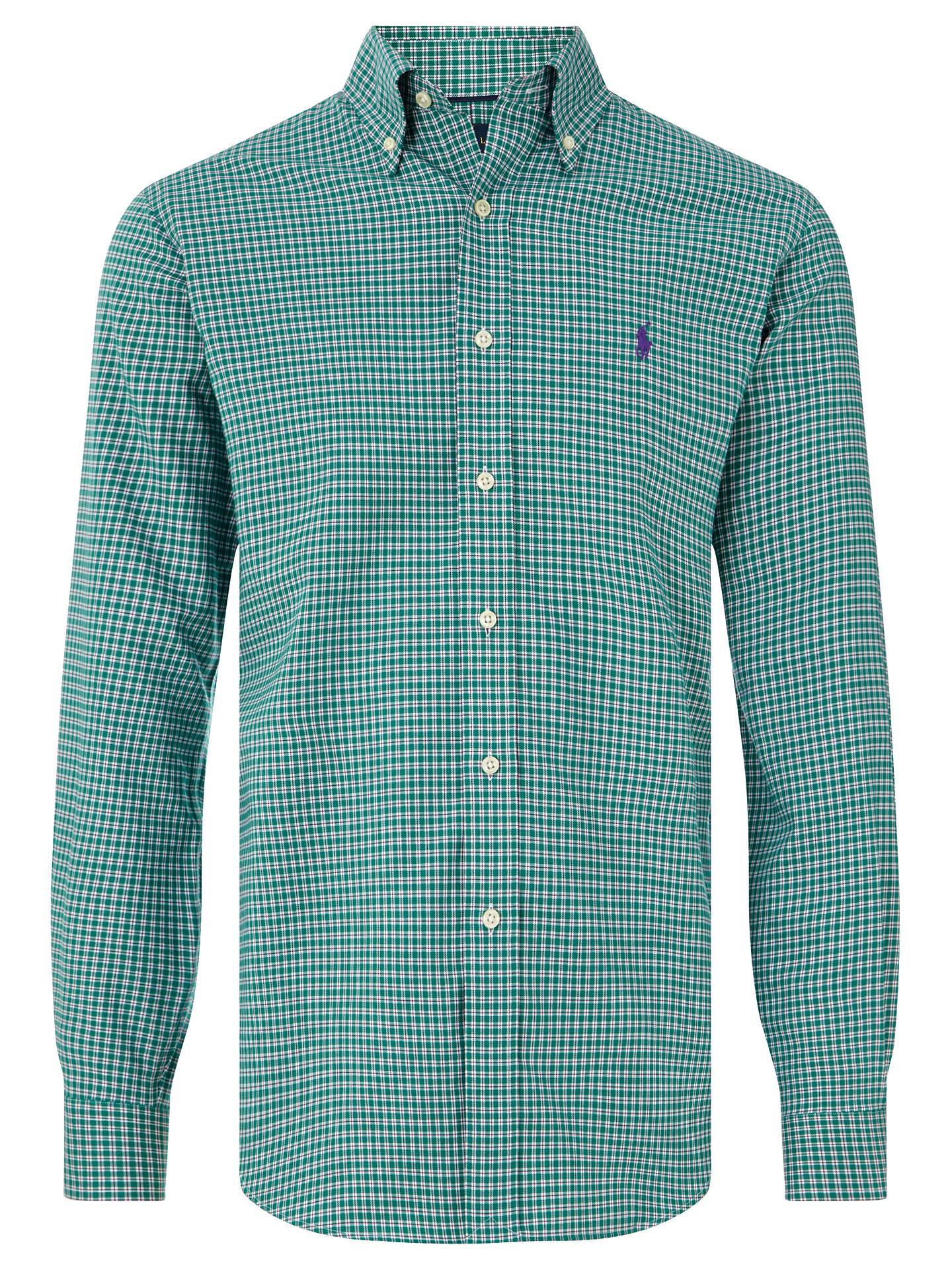 7360eac0d BuyPolo Golf by Ralph Lauren Long Sleeve Sports Shirt, Evergreen/Crimson, S  Online ...