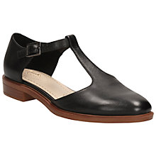 Buy Clarks Taylor Palm Leather Court Shoes, Black Online at johnlewis.com