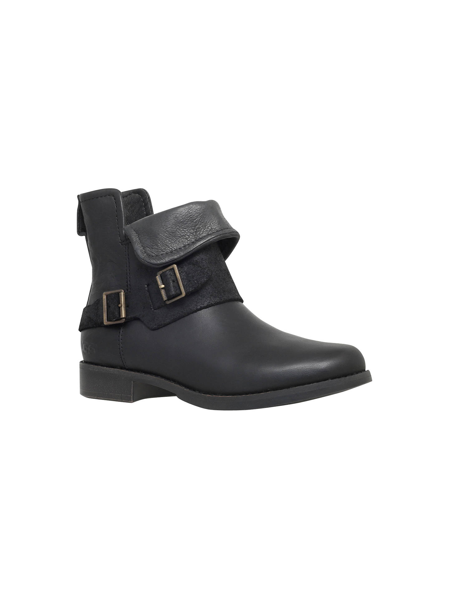 a63cc703891 UGG Cybele Studded Detail Ankle Boots, Black Leather at John Lewis ...