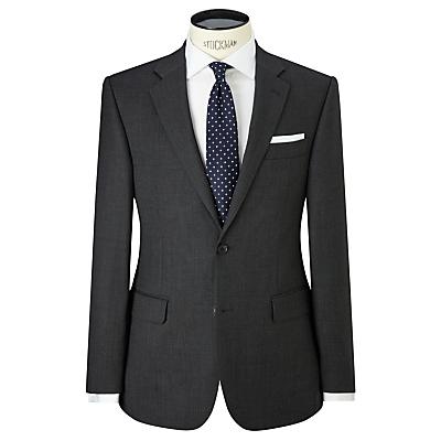 Image of John Lewis & Partners Birdseye Wool Regular Fit Suit Jacket, Charcoal