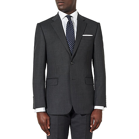 Buy John Lewis Birdseye Wool Regular Fit Suit Jacket, Charcoal Online at johnlewis.com