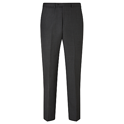 Image of John Lewis & Partners Birdseye Wool Regular Fit Suit Trousers, Charcoal