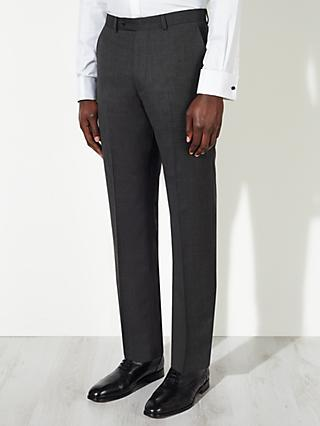 John Lewis & Partners Birdseye Wool Regular Fit Suit Trousers, Charcoal