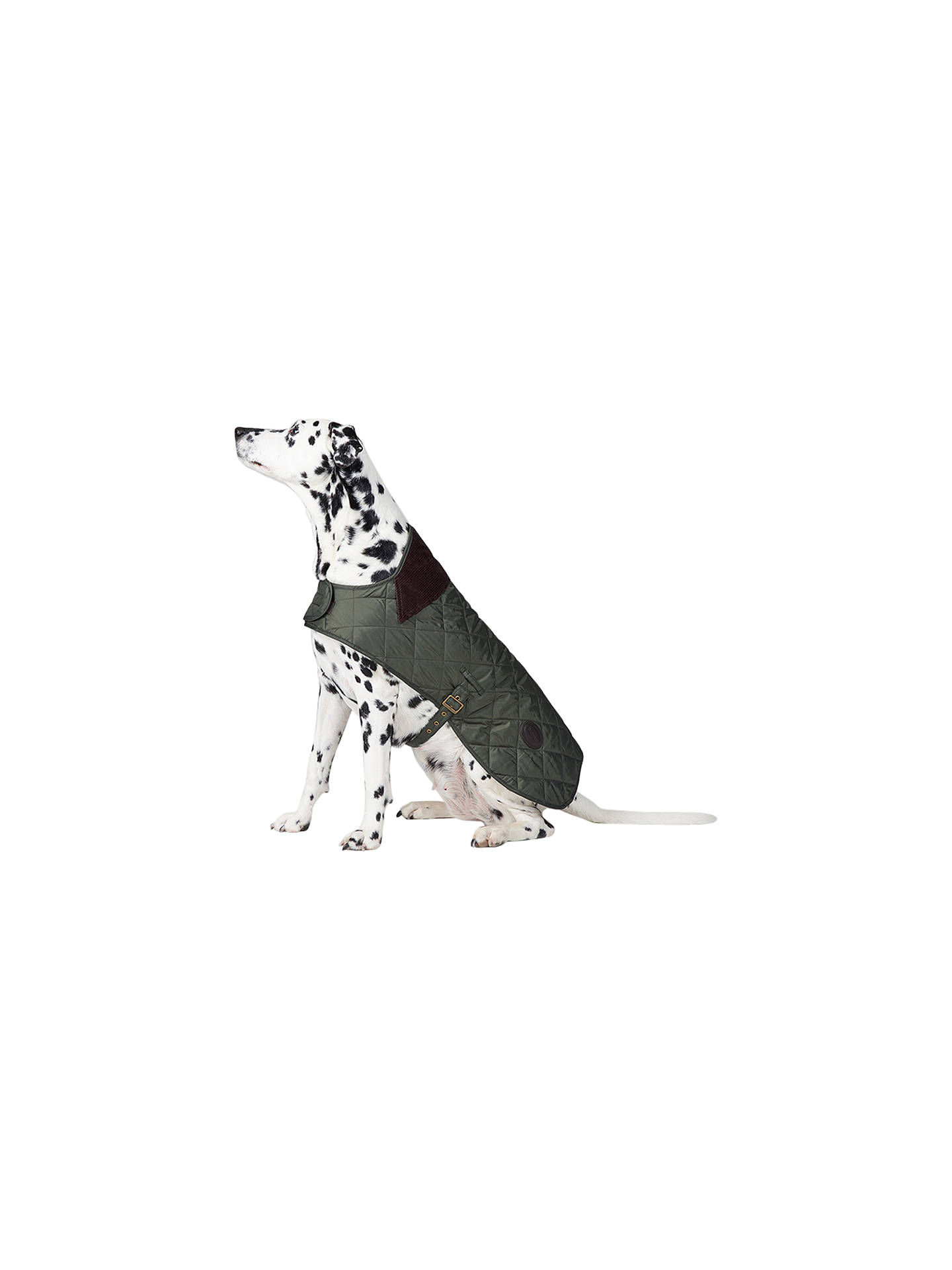 BuyBarbour Quilted Dog Coat, Olive, L Online at johnlewis.com