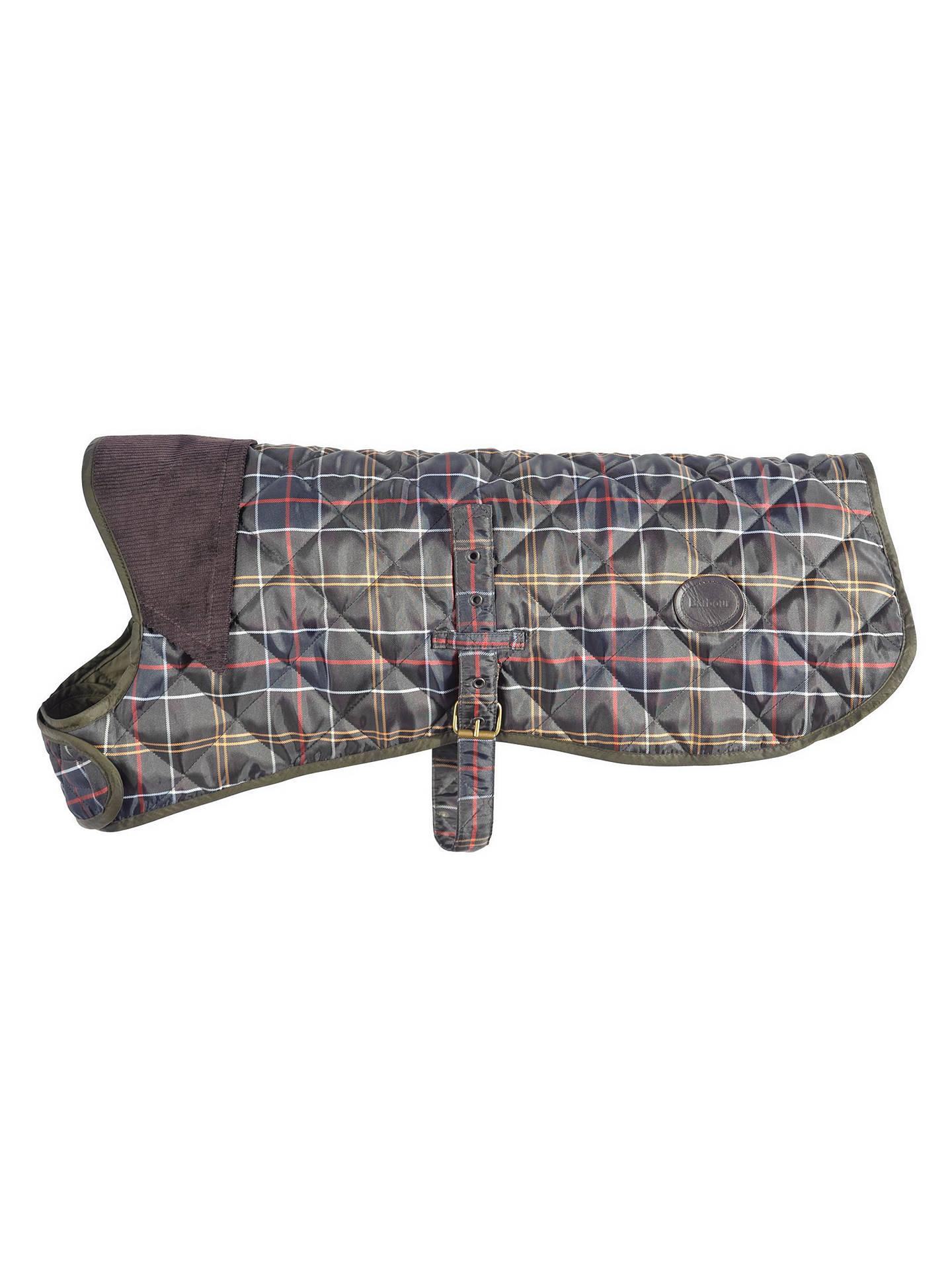 Barbour Quilted Tartan Dog Coat At John Lewis Amp Partners