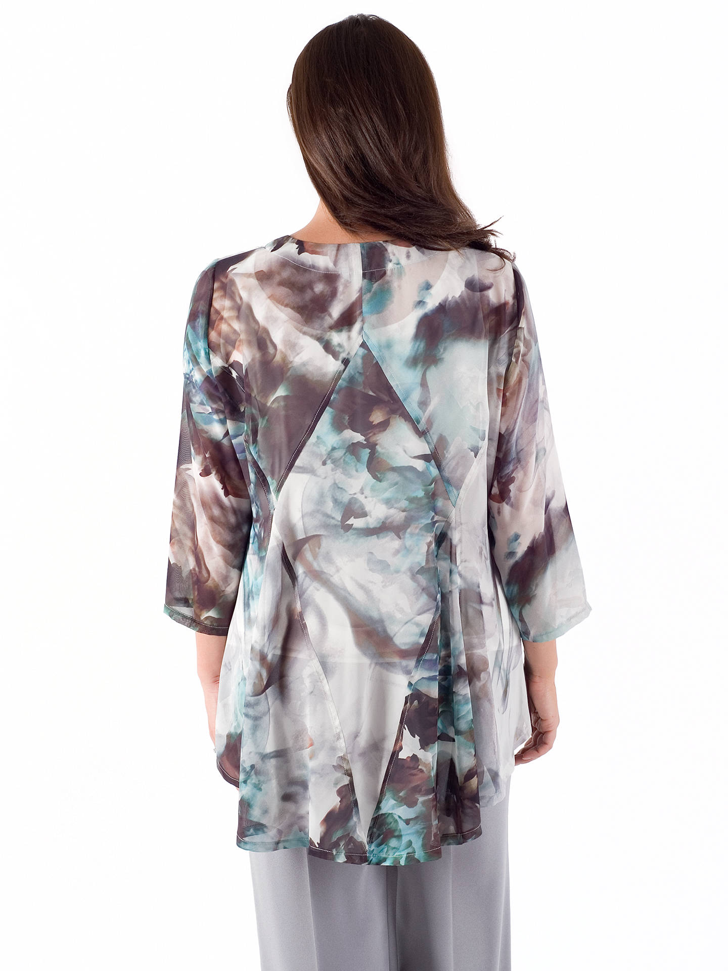 Buy Chesca Abstract Print Top, Grey/Turquoise, 12-14 Online at johnlewis.com
