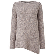 Buy Phase Eight Chunky Melinda Asymmetric Knit Jumper, Taupe Online at johnlewis.com