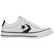 Buy Converse Star Player Canvas Trainers, White Online at johnlewis.com