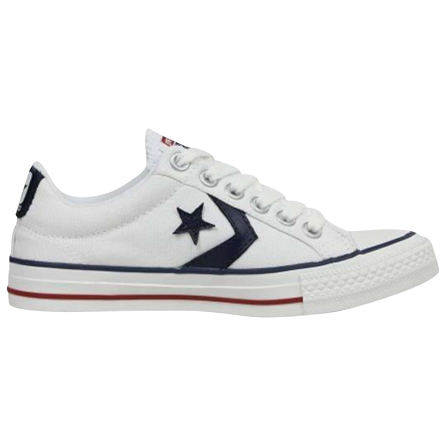 BuyConverse Star Player Canvas Trainers, White, 7 Online at johnlewis.com